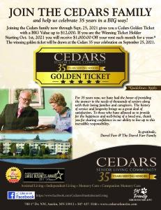 JOIN THE CEDARS FAMILY