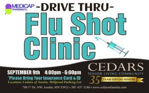 Drive Thru Flu Shot Clinic Partnered with Medi Cap.
